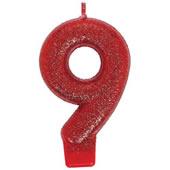 9亮紅-數字蠟燭[T6]