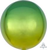 16吋 立體鏡面圓球 黃漸層綠[T6]
