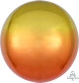16吋 立體鏡面圓球 黃漸層橘[T6]