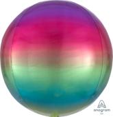 16吋 立體鏡面圓球 彩虹漸層[T6]