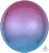 16吋 立體鏡面圓球 粉漸層紫藍[T6]