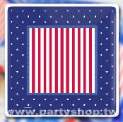 10.5吋  美國星方紙盤(8入)[T4]