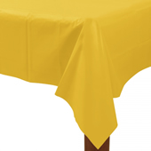 黃-塑膠長桌巾{P3}