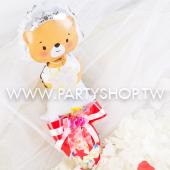 小熊新娘棉糖組_B19594<客製商品需先付款>