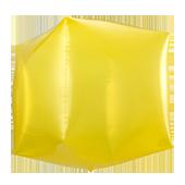 14吋 立體正方-透明黃[T5]