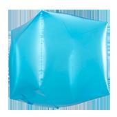 14吋 立體正方-透明藍[T5]