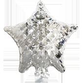 7吋五角星-鑽石銀[T10]