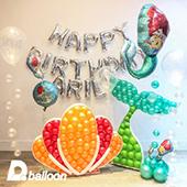 馬賽克氣球套組_美人魚的海底王國