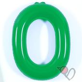 14吋 O-耐久字母-綠[T3]