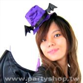 紫蝙蝠高帽髮圈[T3]