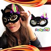 黑色豔麗貓眼罩