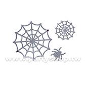 閃亮 雙網蜘蛛 刺青紋身貼[T4]