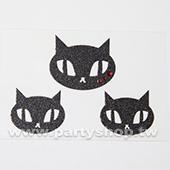 閃亮 黑貓 刺青紋身貼[T4]
