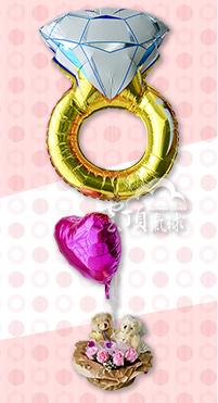 50克拉的愛戀+結婚小熊禮物籃