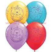 11吋 混色印(生日維尼) 氣球/25pcs