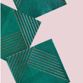小深綠金線條紙巾/16入[T8]