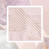 小玫瑰金線條紙巾/16入[T8]