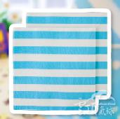 淺藍-條紋紙巾/20入[T8]