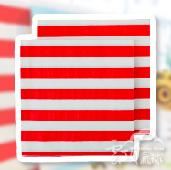 紅-條紋紙巾/20入[T8]