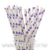 紫印花紙吸管/25根[T8]