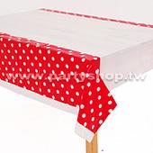 紅-點點桌布[T4]