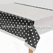 黑-點點桌布[T4]