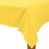 黃塑膠長桌巾137*274[T3]