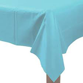 淺藍塑膠長桌巾137*274[T3]