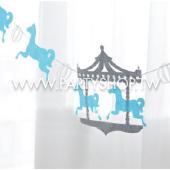 淺藍 遊樂園不織布BN[T8]