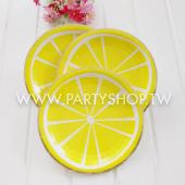 9吋 黃檸檬紙盤/8入[T8]