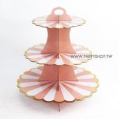 粉色蛋糕 三層蛋糕紙架[T5]
