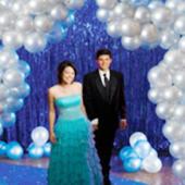 藍-鋁箔門簾/長2米*寬1米[T3]