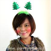 雙層耶誕樹髮圈[T12]