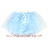 藍紗小花蓬蓬裙