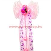 珍珠紗蝴蝶結-粉