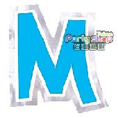 字母貼紙-M