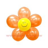 圓-S-(橘)微笑球花DIY/2組入[T3]