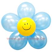 圓-L-(淺藍)微笑球花DIY/1組入[T3]
