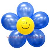 圓-L-(深藍)微笑球花DIY/1組入[T3]